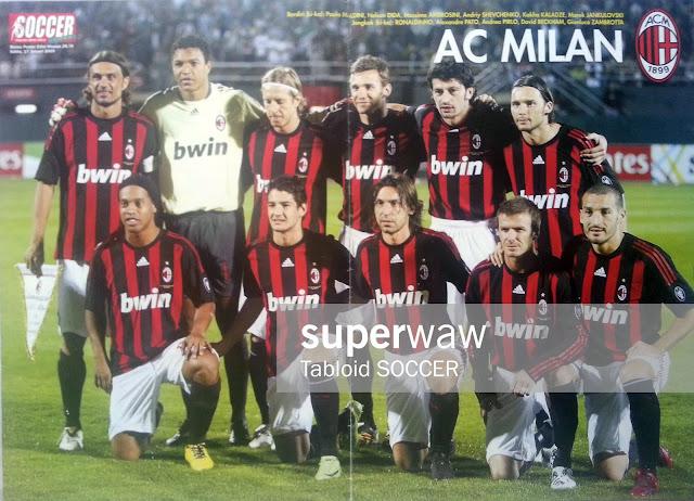 Team Squad AC Milan 2008