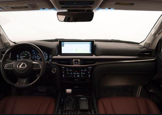 Lexus LX 570 2016 Front Cabin Interior View