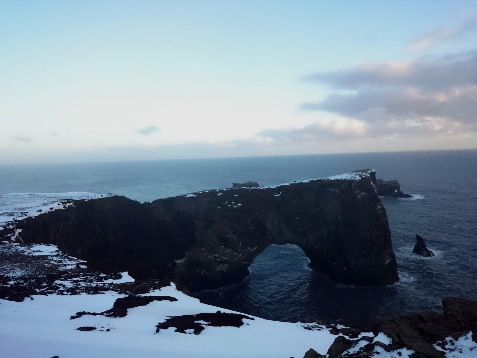 łuk Dyrholaey, Dyrholaey, Islandia, panidorcia, blog o Islandii
