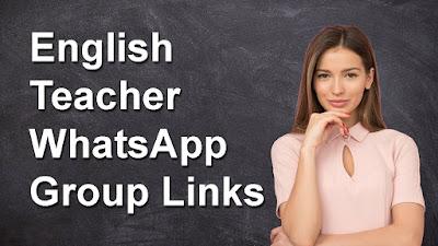 English Teacher WhatsApp Group Links
