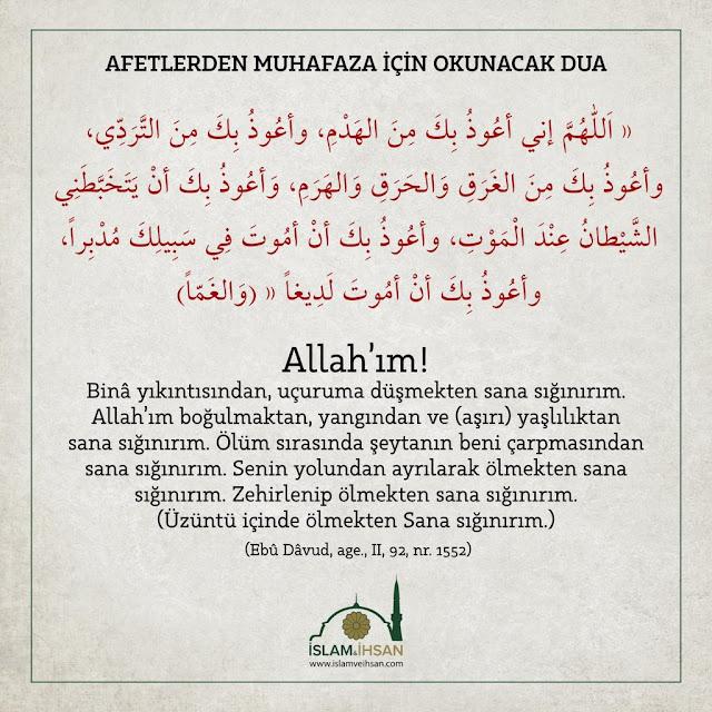 Deprem Duası nedir? Türkçe Arapça okunuşu nasıldır?