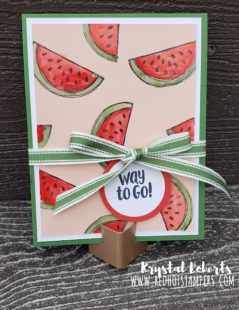 Watermelon Card Paper Pumpkin April 2021