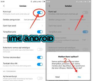 Cara hapus password whatsapp hp Xiaomi