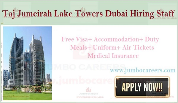 UAE latest Hotel Jobs with salary, Hotel job openings in Gulf countries,