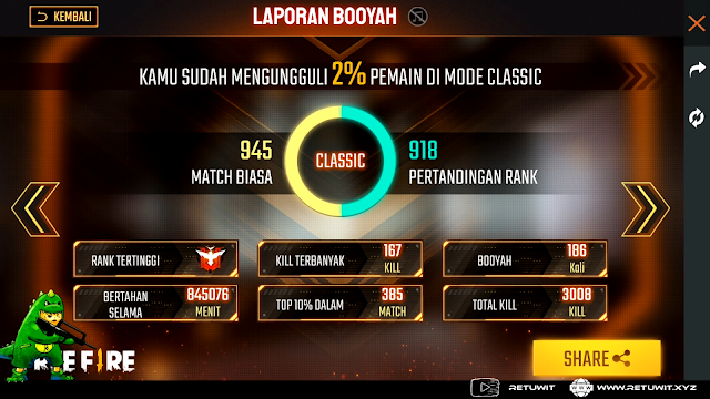 laporan match booyah