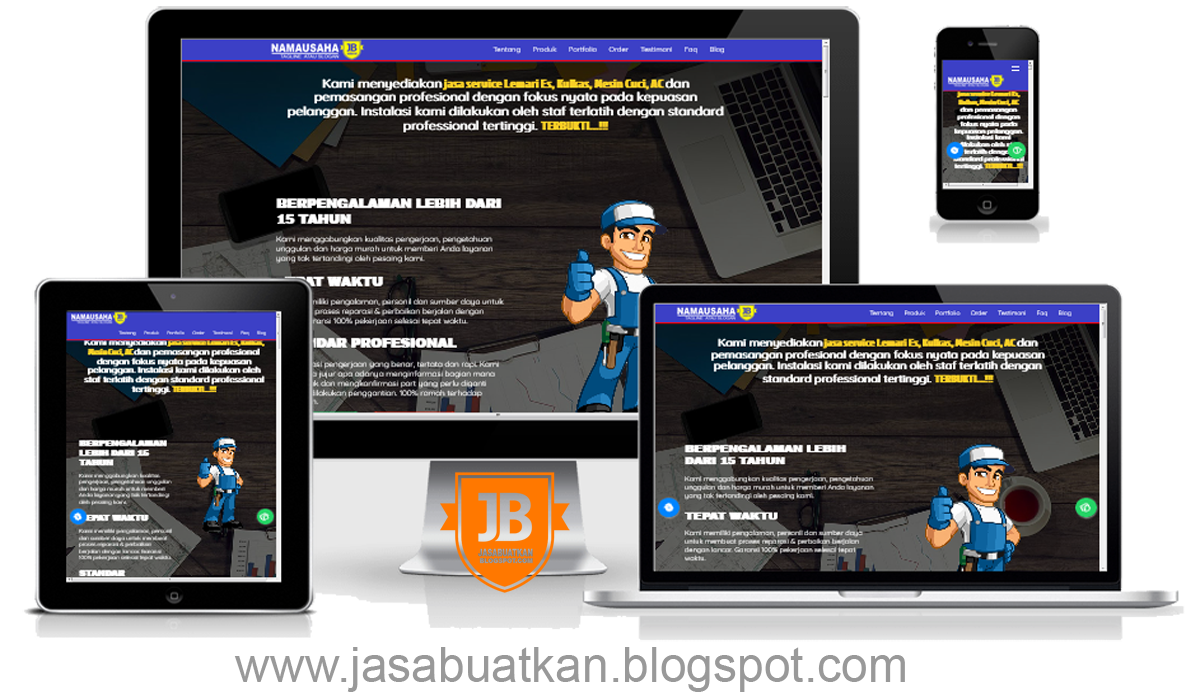 Jasa Web Blog Servis Ac Kulkas Mesin Cuci Murah Terpercaya