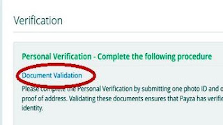 verifikasi payza step 3