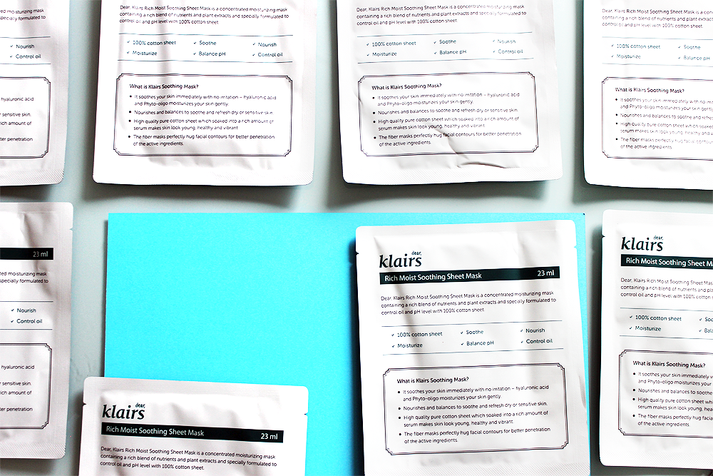 dear Klairs Rich Moist Soothing Mask review