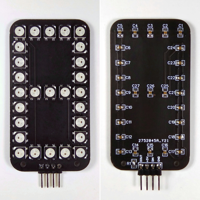 индикатор на светодиодах WS2812B
