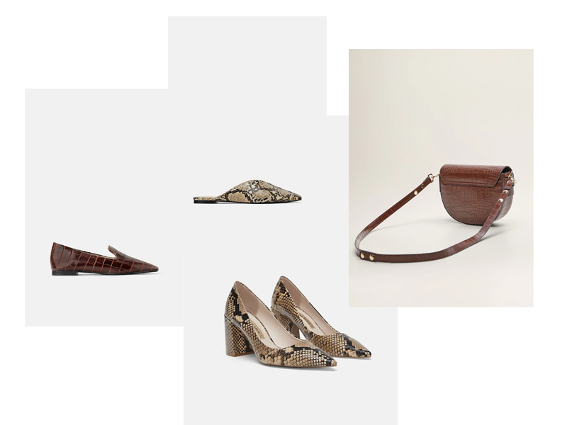 blog klapki mules skóra węża skóra krokodyla torebka buty