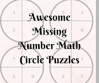 Awesome Missing Number Math Circle Puzzles