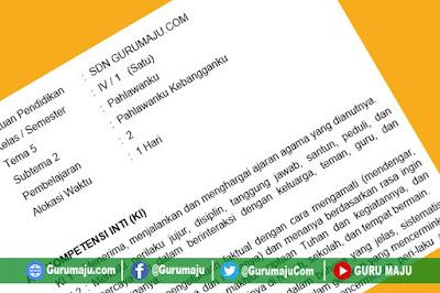 RPP Kelas 4 Tema 5 Kurikulum 2013 Revisi Tahun 2019