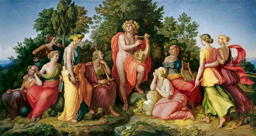 As Nove Filhas de Zeus e Mnemosine, Deusas Das Artes