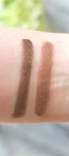 Swatches of RMS Beauty Contour Bronze and Buriti Bronzer