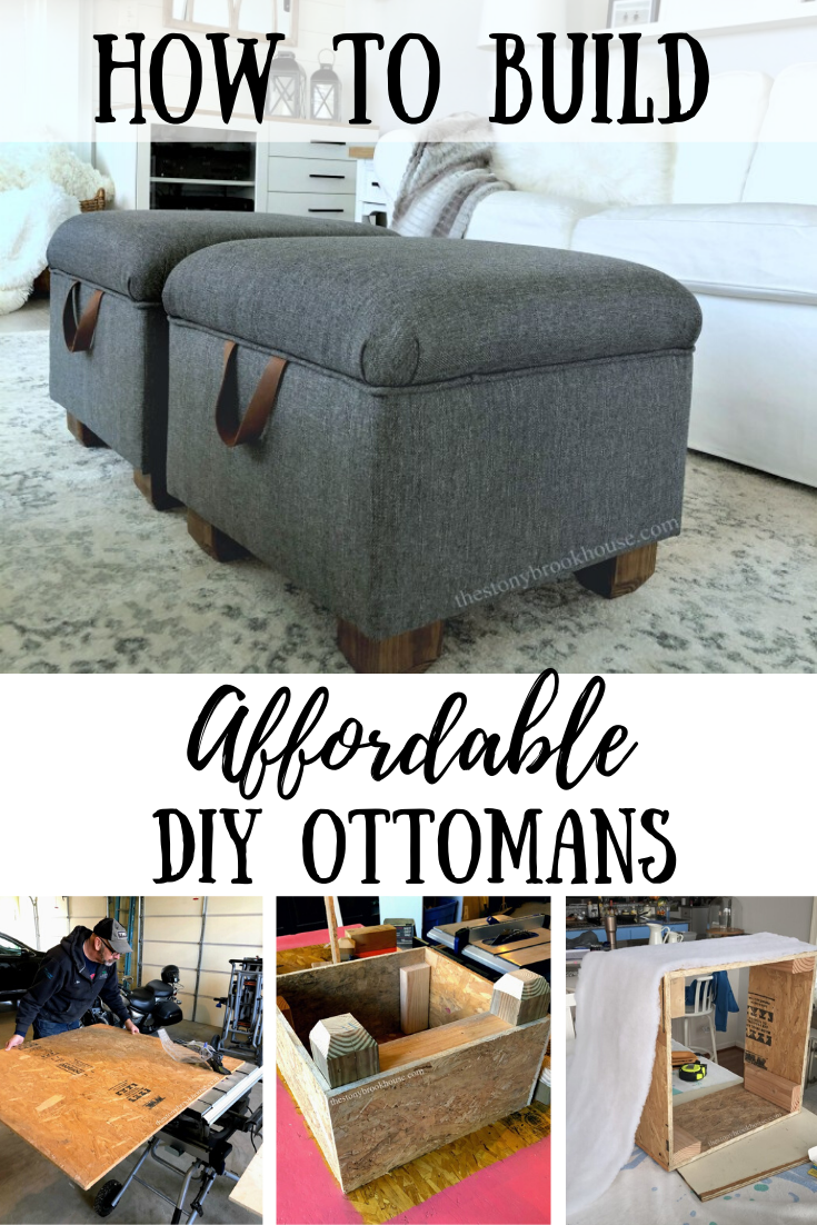 How To Build Affordable DIY Ottomans