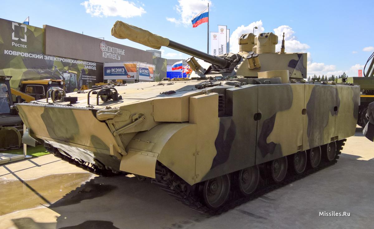Модернізована БМП-3М з безекіпажним бойовим модулем Драгун