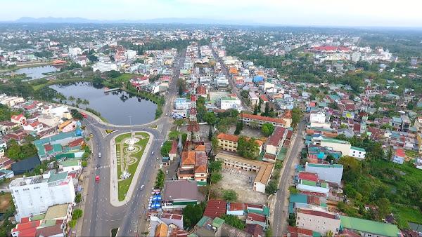 Hạ tầng , mặt bằng đô thị thành phố bảo lộc phát triển mạnh mẽ trong thời gian gần đây