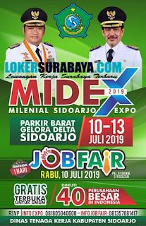 Job Fair Dinas Tenaga Kerja - Milenial Sidoarjo Expo (Midex) Juli 2019