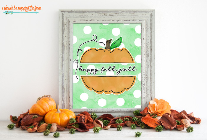 Free Happy Fall, Y'all Printable