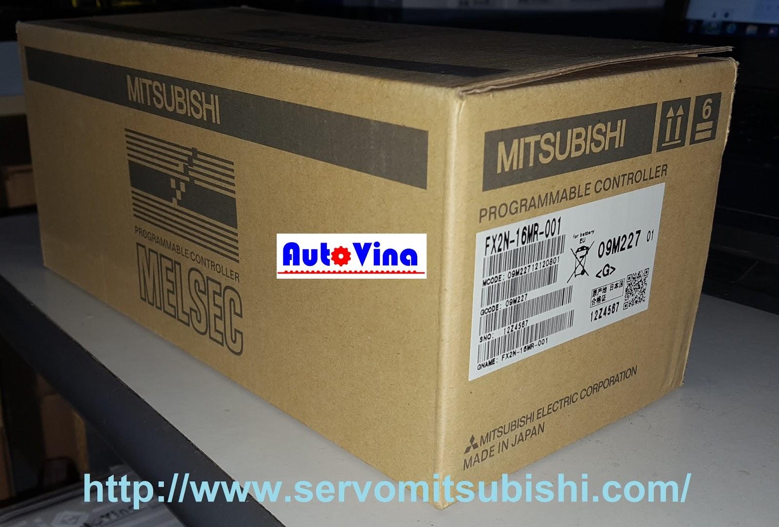 Vỏ hộp PLC Mitsubishi FX2N-16MR-001 hàng new full box