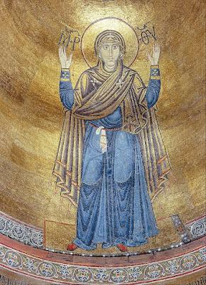 The Virgin Orans, c.1030 - Byzantine Mosaics - Свята Діва Марія (Оранта)
