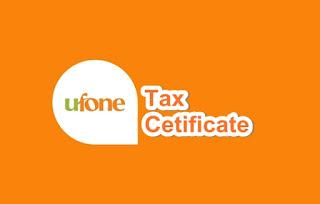 ufone-tax-certificate