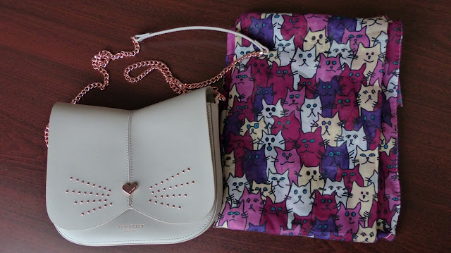 ted baker cat bag and funny cats scarf