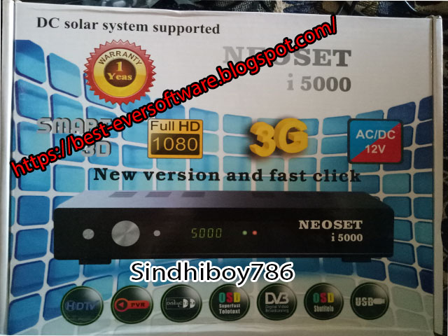 Latest Software For Neoset i5000 HD | New Software For Neosat i5000 HD Sim Receiver