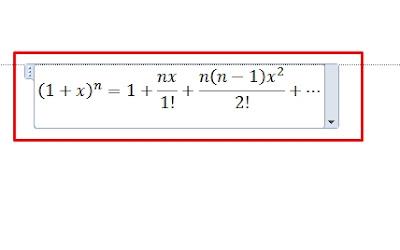 Tutorial Memasukkan Rumus Matematika di Word