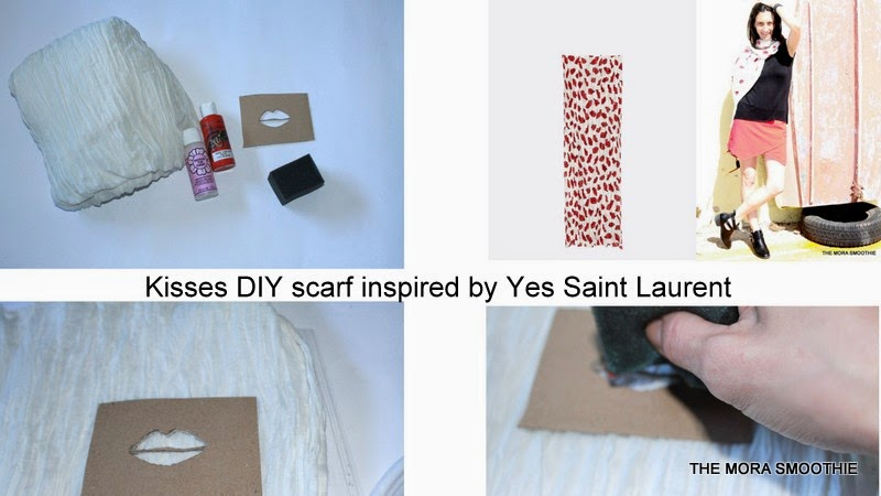 DIY, DIY scarf, diy Yves Saint Laurent, Yves Saint Lauent, diy fashion, diy blog, diy blogger, themorasmoothie, scarf, kisses, fashion, fashion diy, craft, diy craft, diy project, fashionblog, fashionblogger, blogger, italianblogger