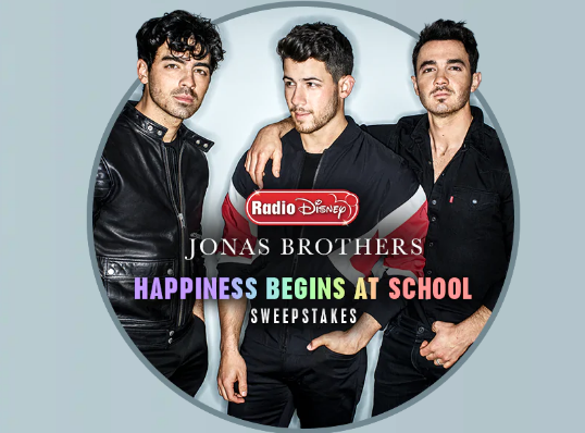 Radio Disney is making back to school TOTALLY happy by giving away a trip for four to see the Jonas Brothers Happiness Begins Tour plus school supplies!