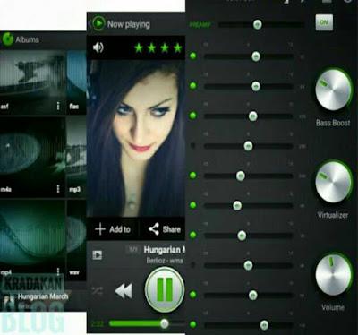 Pemutar music Android pilihan