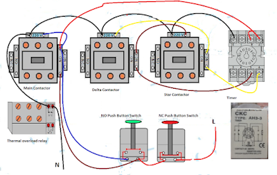 Star Delta Starter Wiring Diagram 3 Phase With Timer Electrical And Electronics Technology Degree