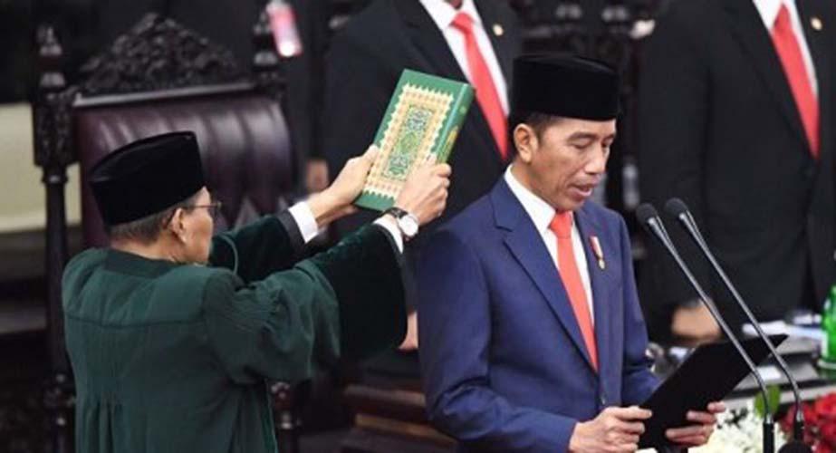 Jokowi saat sumpah jabatan