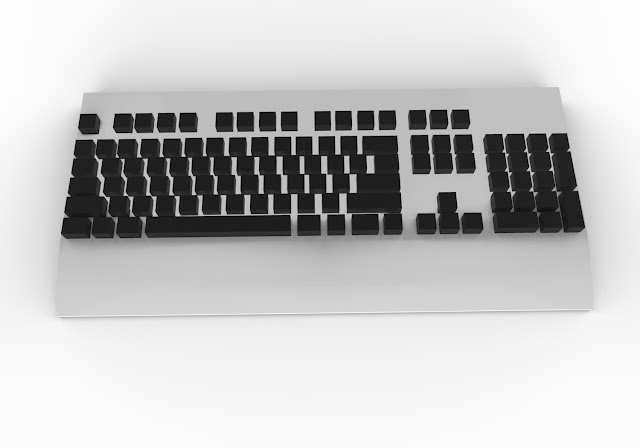 Basic keyboard 3d model free download obj,low poly