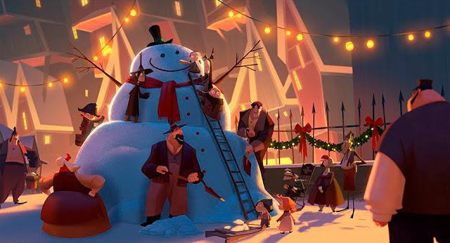 Fotograma de la película Klaus de The SPA Studios (Sergio Pablos Animation)