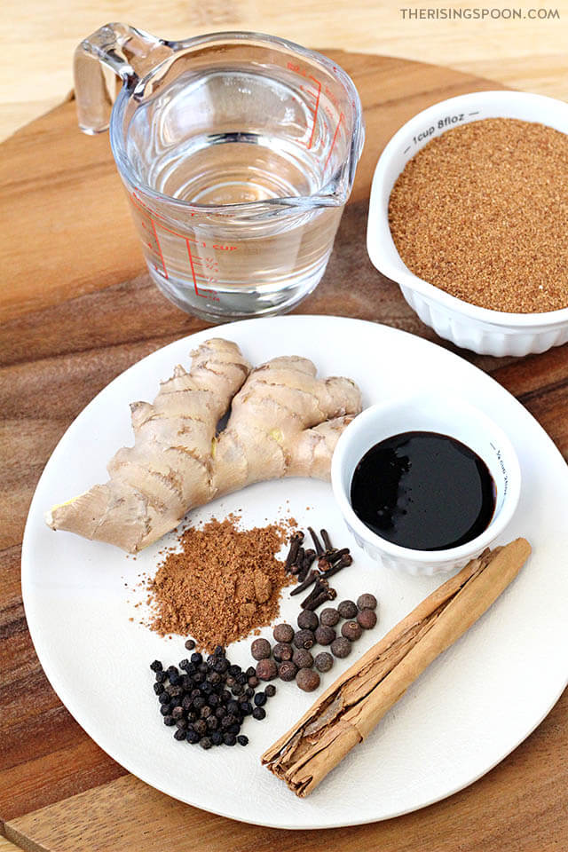 Ingredients For Making Gingerbread Syrup