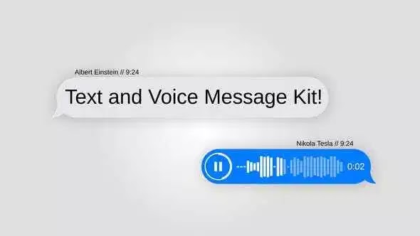 Videohive Text Message Kit with Voice 21704650