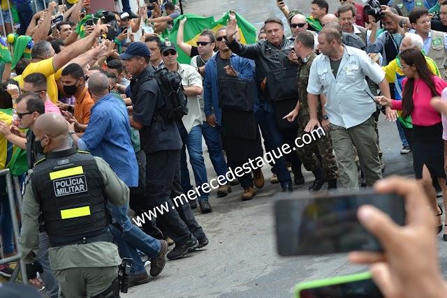 Grande aparato policial é usado durante visita de Bolsonaro a Santa Cruz do Capibaribe