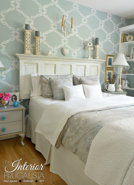 How to turn an old door into a headboard.