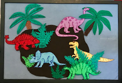 Dinosaur felt set, dinosaur flannet board, flannel friday
