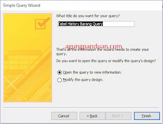 Query Wizard Acces