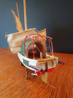 Stern details on model of small Chinese junk