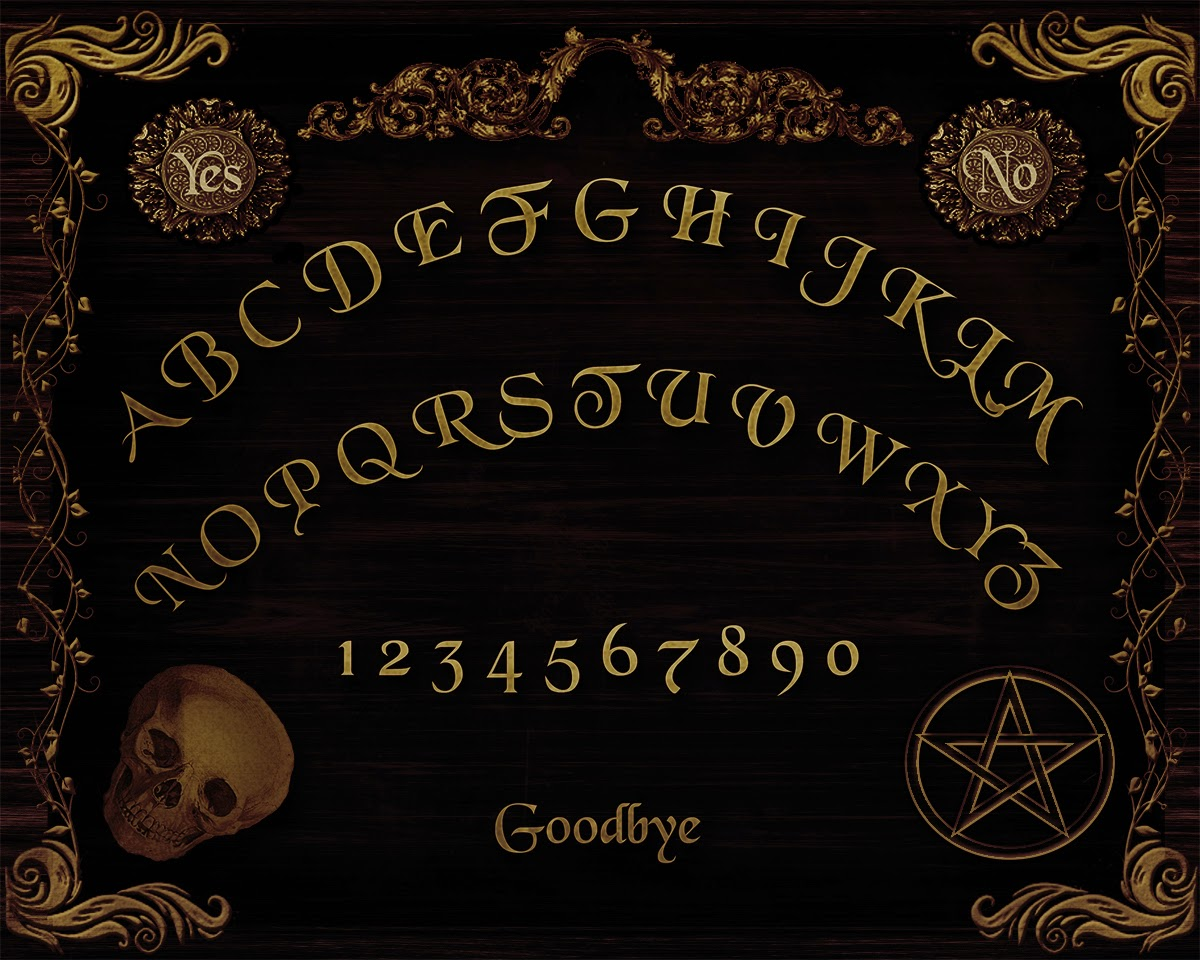 how to make a paper ouija board pointer