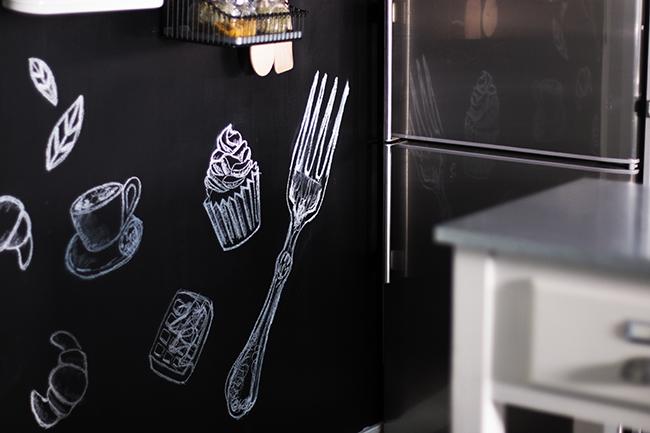 Diy deco transforma tu cocina con una pared de pizarra - Pizarras de cocina ...