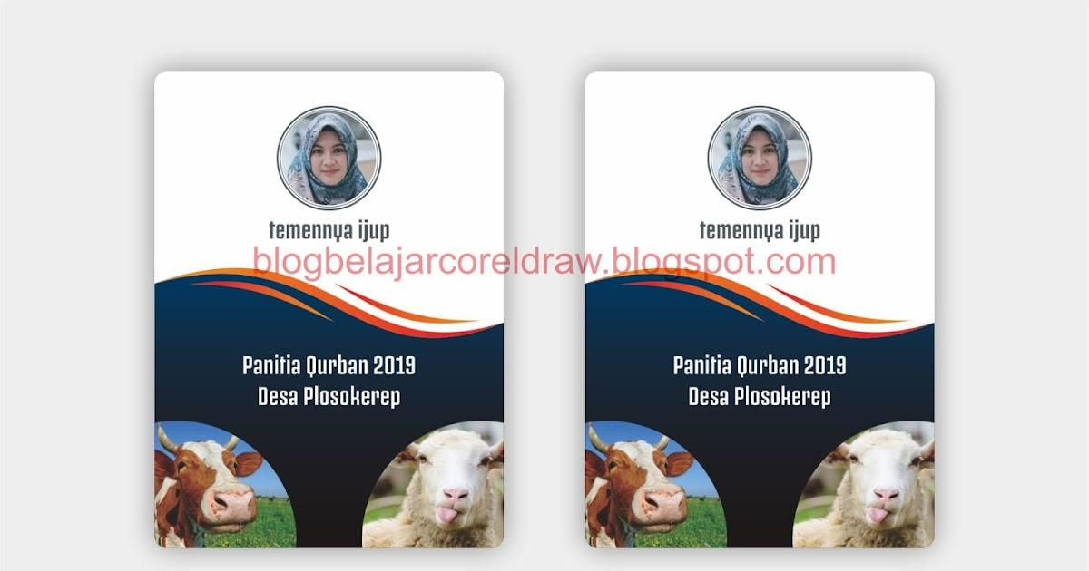 Desain ID CARD Panitia Qurban Format Vector CorelDRAW