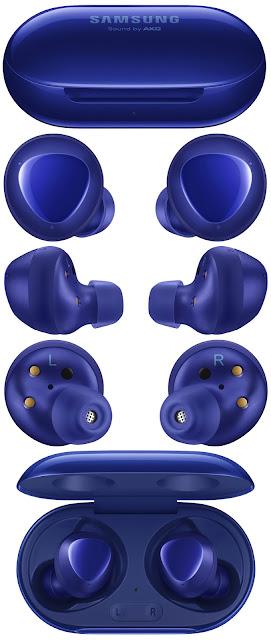 سماعات سامسونج +Galaxy Buds ستتوفر بلون الاورورا الأزرق
