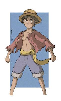2017 FANART BY SELENTO BOOKS  Monkey D. Luffy : One Piece (Eiichirō Oda)