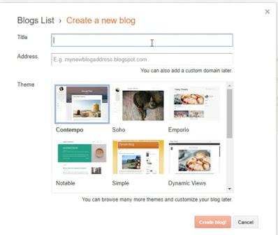 Create new Blog