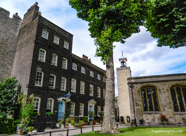 Pátio onde Ana Bolena foi executada na Torre de Londres